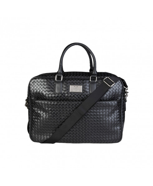 Versace 1969 Laptop Bag - Woven Black