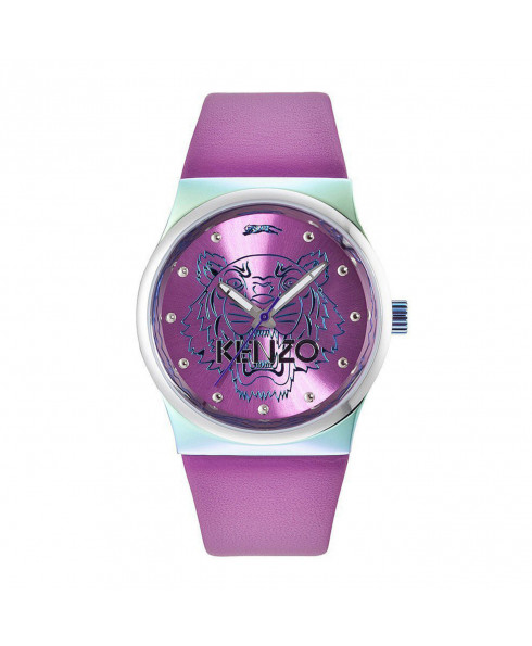 Kenzo Leather Tiger Head Watch - Pink