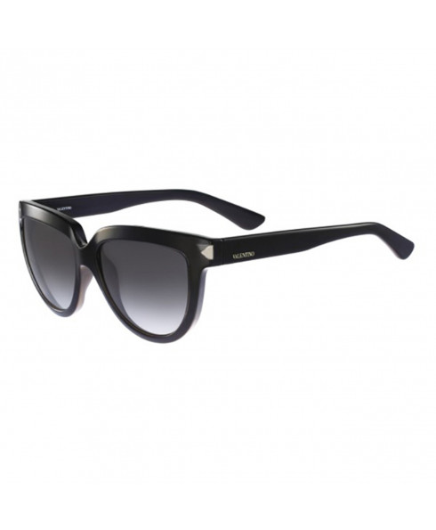 Valentino 'Piano Black' Sunglasses - Black