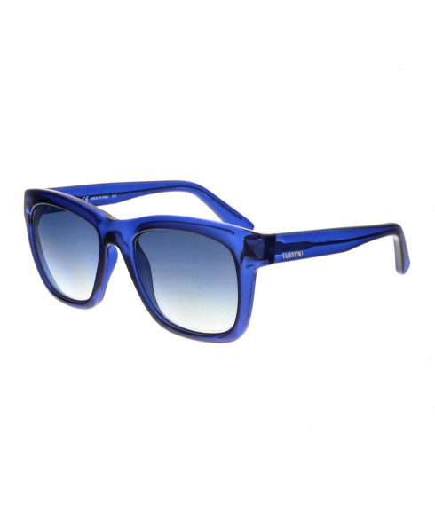 Valentino Rectangular Acetate Sunglasses - Blue
