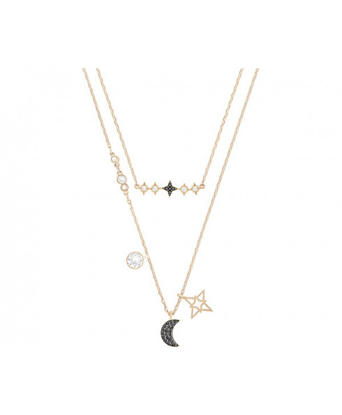 Swarovski Glowing Moon Necklace Set - Multi/Mixed Plating