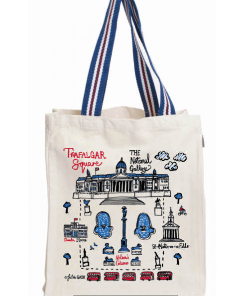 Talented Trafalgar Square BY JULIA GASH-LARGE TOTE-STRIPED HANDLE-Natural