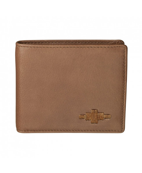 Pampeano 100% Leather Dinero Men's Card Wallet – Tan with Tan Diamond