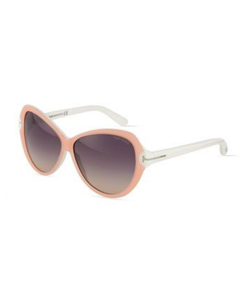Tom Ford 'Valentina' Sunglasses in Peach
