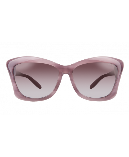 The Tom Ford FT0280 Lana offers a chic, retro-inspired look with a modern touch. These stylish sunglasses feature a sleek butterfly design with subtle wrap-around contour in a marbled purple finish.Lilac gradient lenses complement the frames, along with t