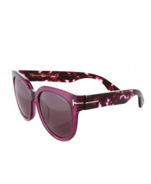 Tom Ford Leopard Print Sunglasses in Purple Front