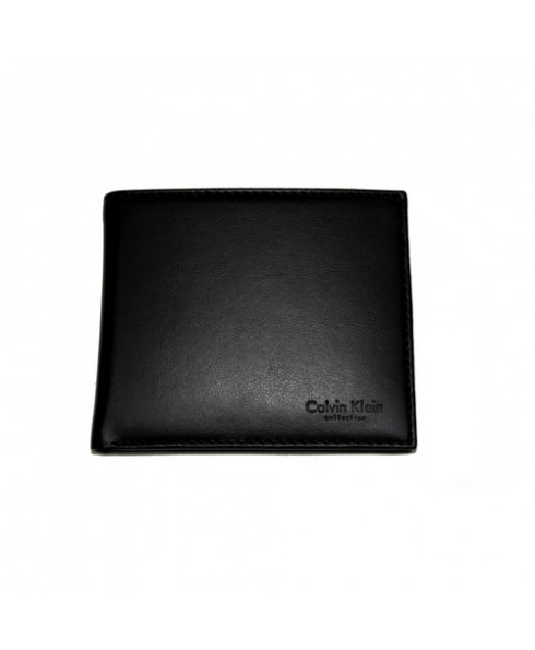 Calvin Klein Leather Wallet with Coin Purse Black