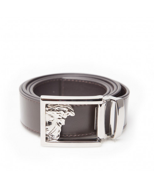 Versace Collection Half Medusa Mens Belt Brown