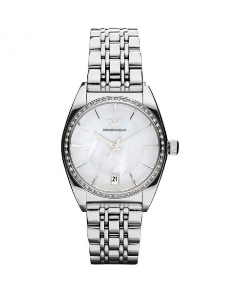 Emporio Armani Ladies Watch - Silver with Mother of Pearl