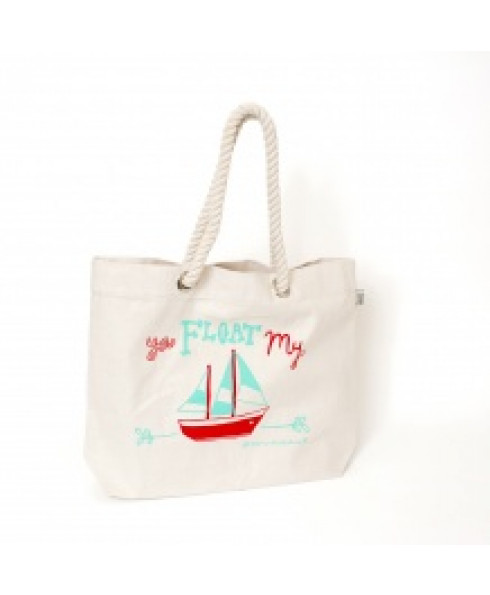 Talented LOVE AHOY Beach Bag - 'You float my boat'