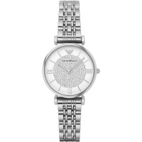 Emporio Armani Ladies Stainless Steel and Rhinestone Watch AR1925