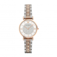 Emporio Armani Ladies Two-Tone Rhinestone Watch AR1926