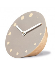 Siebensachen by Adam + Harborth Rockaclock Desk Clock in Beech and Grey