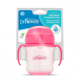 Dr Brown - Soft Spout Trainer Cup Pink