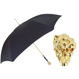 PASOTTI Gold Lion Black Umbrella
