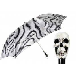 Pasotti Animalier Skull Folding Umbrella