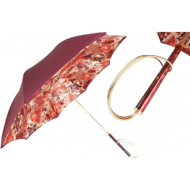 Pasotti  Wonderful Flowers Umbrella, Double Cloth (includes gift box)