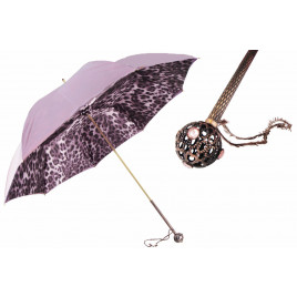 Pasotti Light Purple Animal Print Umbrella