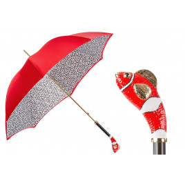 Pasotti Luxury Red Fish Umbrella, Double Cloth