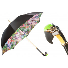 Pasotti Luxury Parrot Umbrella, Double Cloth