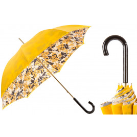 Pasotti Yellow Flowered Umbrella, Double Cloth
