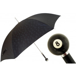 Pasotti Billiard Pool 8-Ball Skull Print Umbrella