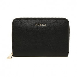 Furla Babylon Medium Zip Around Wallet in Onyx