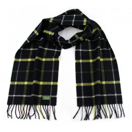 Glencroft - 100% Cashmere Black and Yellow Coloured Scarf