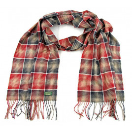 Glencroft - 100% Cashmere Red and Black Plaid Stole