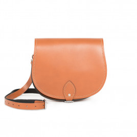 Gweniss Avery Saddle Bag - Dark Tan