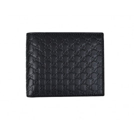 Gucci Black Microguccissima Leather Wallet