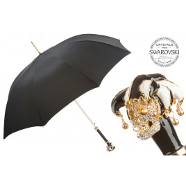 Pasotti Luxury Swarovski® Jester Skull Umbrella