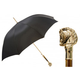 Pasotti - Luxury Golden Horse Handle Umbrella