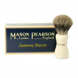 Mason Pearson - Brushes Super Badger Shaving Brush SS Ivory