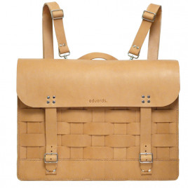 Eduards - Näver Backpack /Shoulderbag in Nature Leather