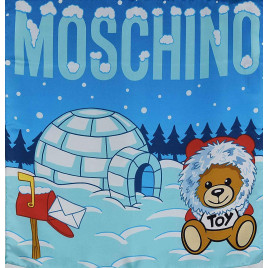 Moschino Igloo Scarf - Light Blue