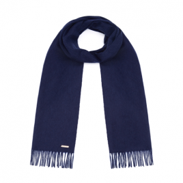 Hortons 100% Cashmere Scarf Navy Blue
