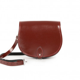 Gweniss Avery Saddle Bag - Oxblood Patent