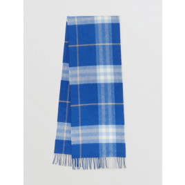 Burberry - The Classic Check 100% Cashmere Scarf In Inky Blue/bluebell