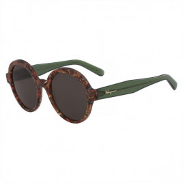 Salvatore Ferragamo SF878S Rust Havana Sunglasses