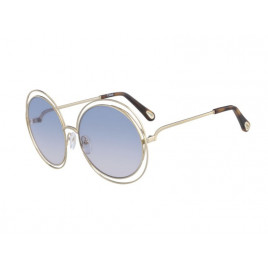 Chloé CE114SD Carlina Gold Havana Azure Sunglasses For Women