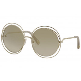 Chloé CE114SD Carlina Gold Opaline Beige Sunglasses For Women