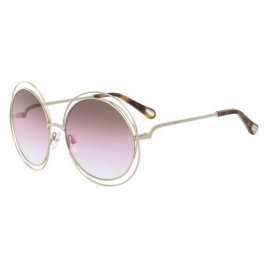 Chloé CE114SD Carlina Gold Brown Rose Sunglasses For Women