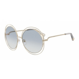 Chloé CE114SD Carlina Gold Transparent Light Grey Sunglasses For Women
