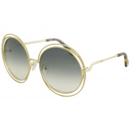 Chloé CE114SC Carlina Gold/Gradient Petrol Sunglasses For Women