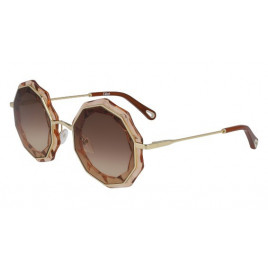 Chloé CE160S Carlina Gold Peach Sunglasses For Women