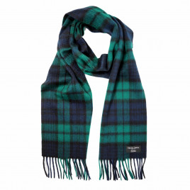 Gretna Green Cashmere Scarf in Black Watch Tartan