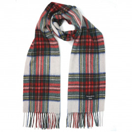 Gretna Green Cashmere Scarf in Dress Stewart Tartan