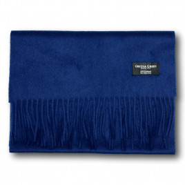 Gretna Green Wide Cashmere Scarf in Oxford Blue