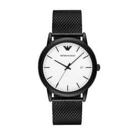 Emporio Armani Stainless Steel Black Strap Men's Watch